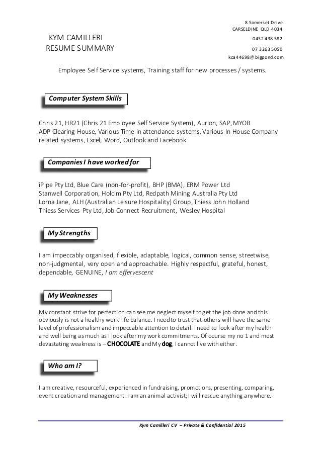 payroll resume summary 1