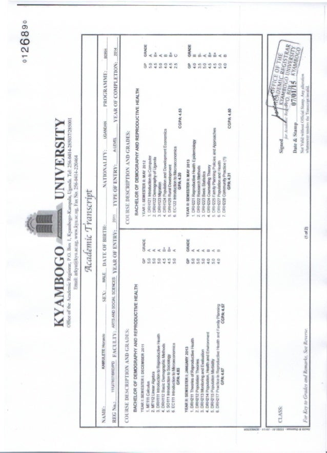 Kamulete_Horasio_ Transcript Results