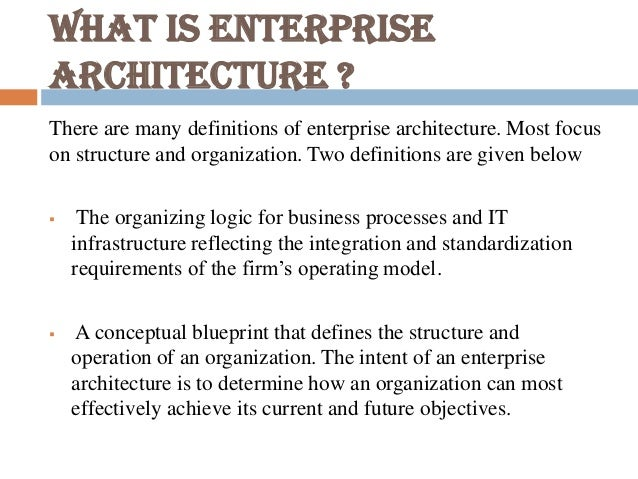 Introduction to enterprise architecture 4 malvernweather Gallery
