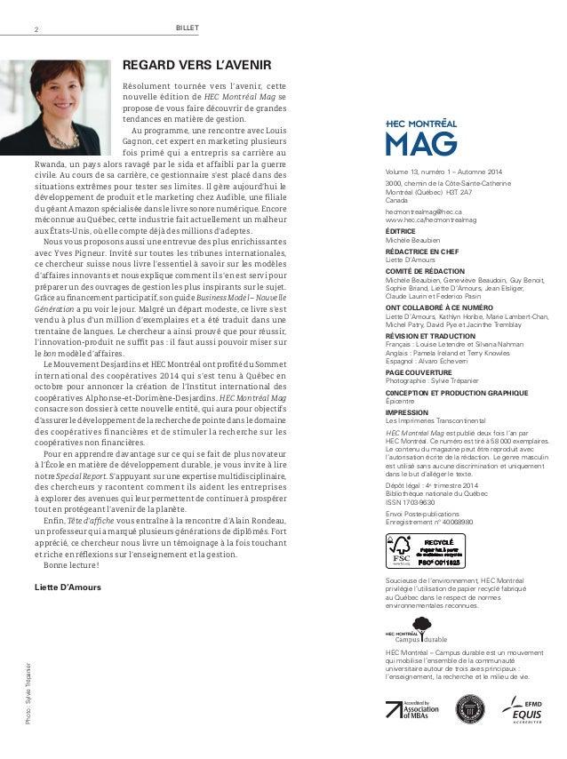 Nouvelles 3HEC Montréal Mag – Automne 2014 Plan d'action gouvernemental sur les hydrocarbures: Pierre-Olivier Pineau nomm...