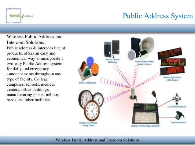 Wireless Pa Systems For Buildings Public Address System
