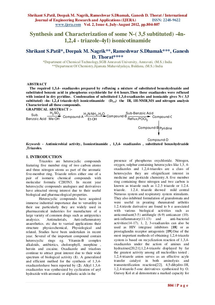 Shrikant S.Patil, Deepak M. Nagrik, Rameshwar S.Dhamak, Ganesh D. Thorat / International     Journal of Engineering Resear...