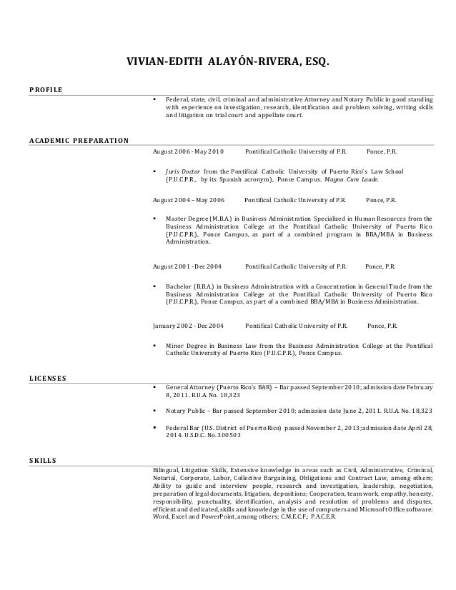vivian alayon u0026 39 s resume  english