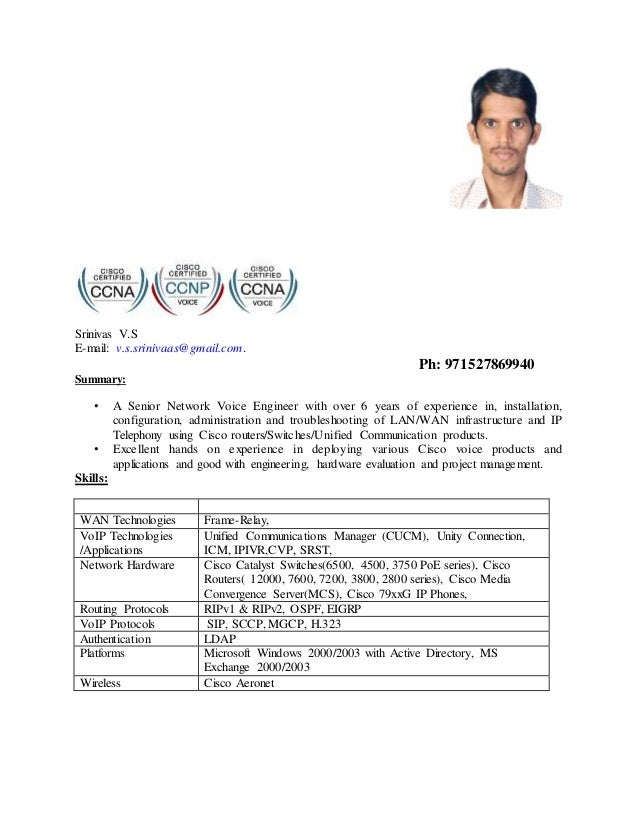 Resume C Pdf Resume C Pdf Cisco Voip Engineer Cover Letter Cisco Voip Engineer  Cover Letter