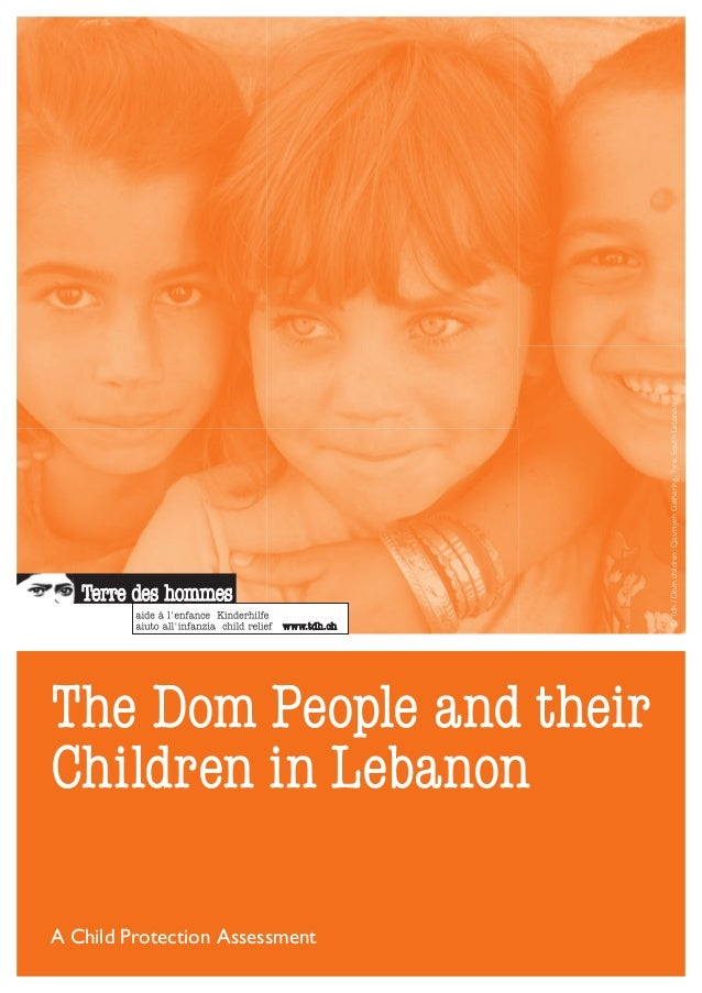 The Dom People and their Children in Lebanon A Child Protection Assessment ©Tdh/Domchildren:QasmiyehGathering,Tyre,SouthLe...