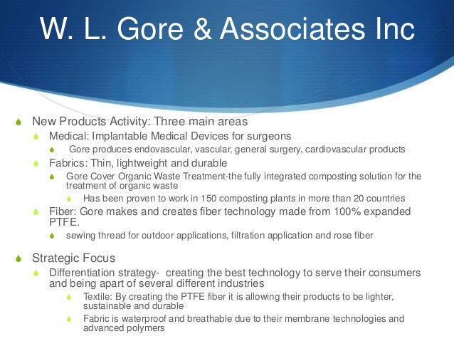 Wl Gore Products