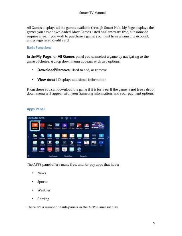 samsung led tv manual pdf