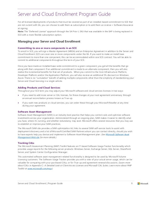 Microsoft Server And Cloud Enrollment Program Guide