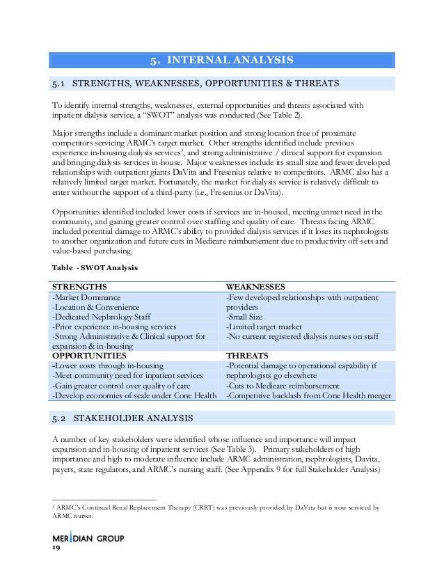 davita swot Global dialysis market opportunities 2018: baxter international inc, fresenius medical care ag & co kgaa, nxstage medical inc, nipro corporation, medicators inc.