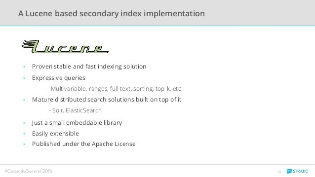Does it make sense to use Lucene based products ...