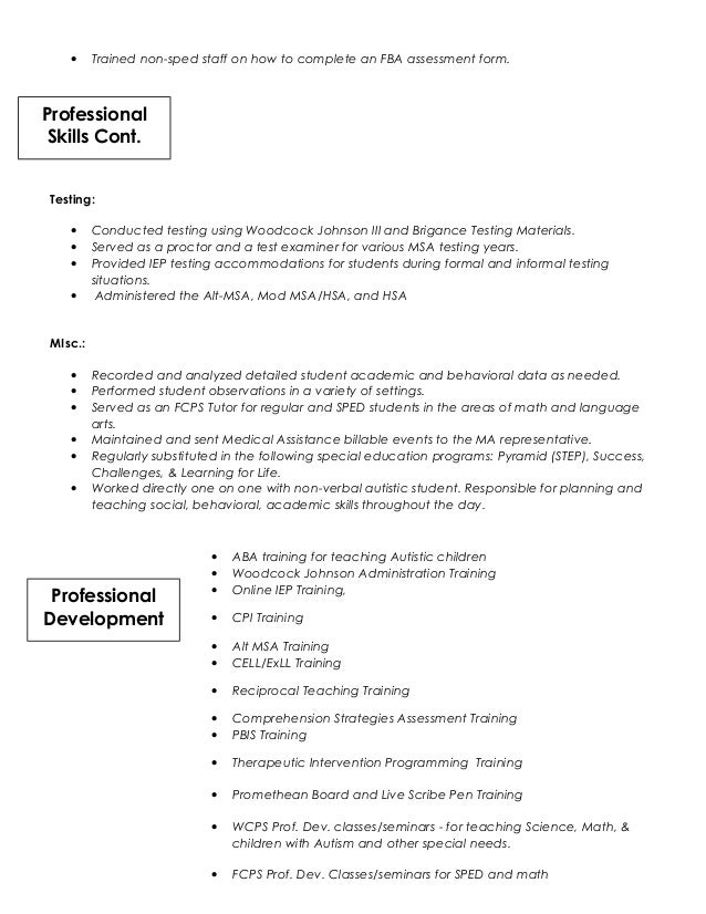 Book ReportsReview Ideas   Special Needs Educator Resume