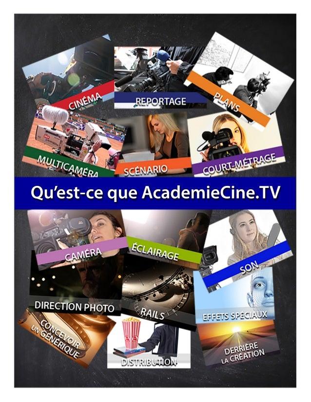 Qu'est-cequeAcademieCine.TV
