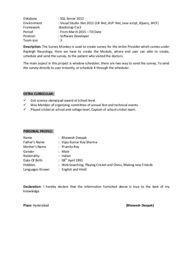 Bhawesh Resume