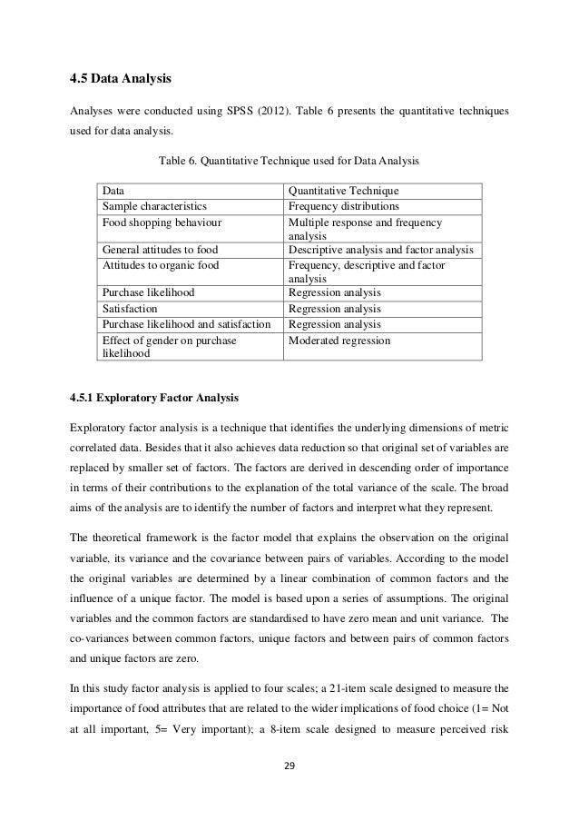 Thesis using regression analysis