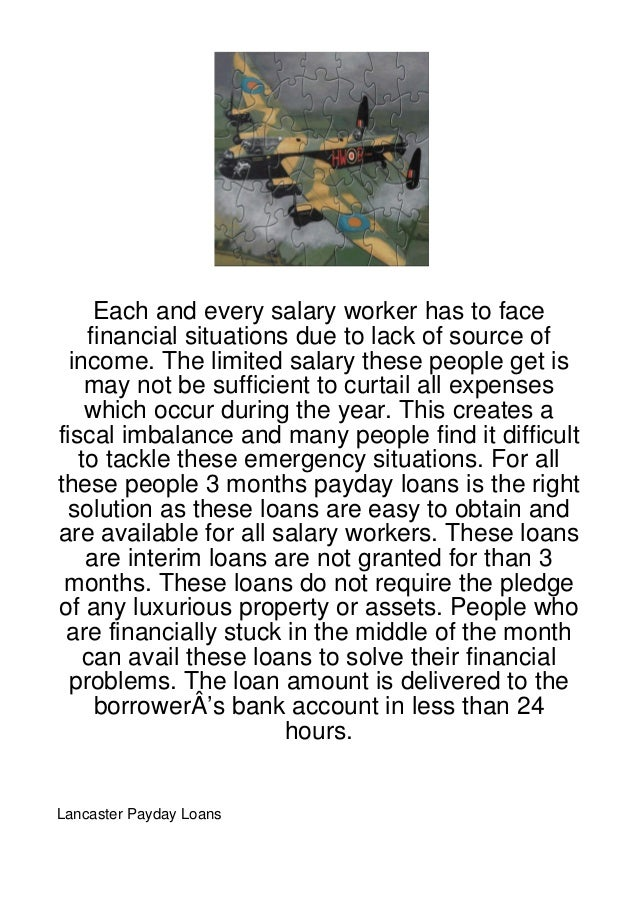 Each and every salary worker has to face    financial situations due to lack of source of  income. The limited salary thes...