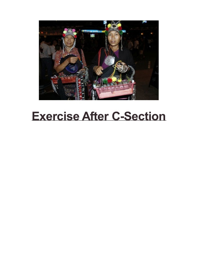 Exercise After C-Section