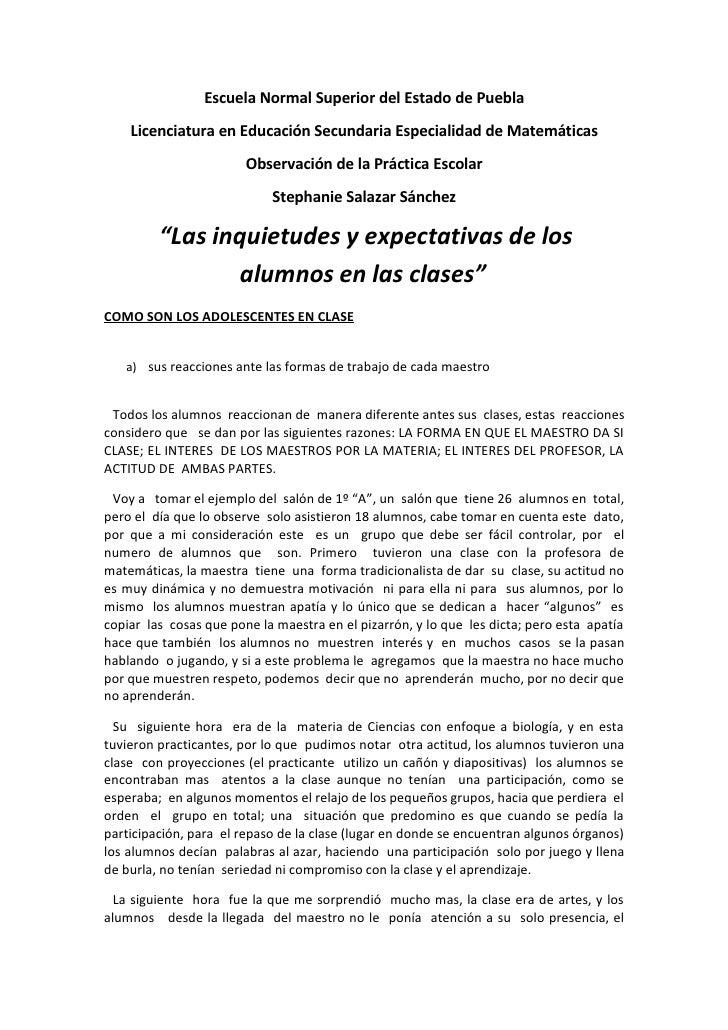 Escuela Normal Superior del Estado de Puebla     Licenciatura en Educación Secundaria Especialidad de Matemáticas         ...