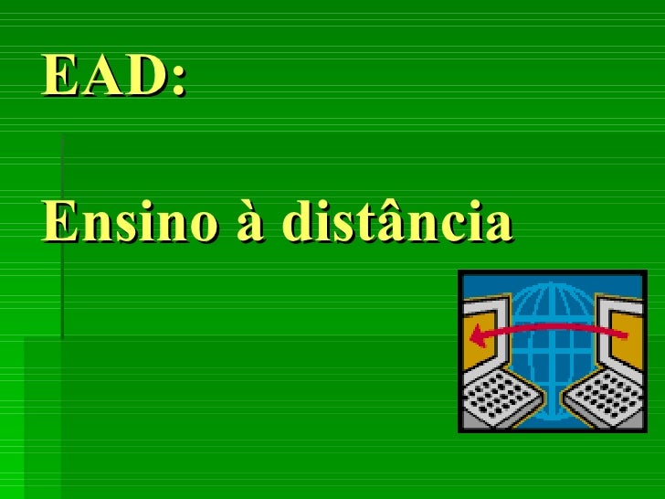 EAD: Ensino à distância