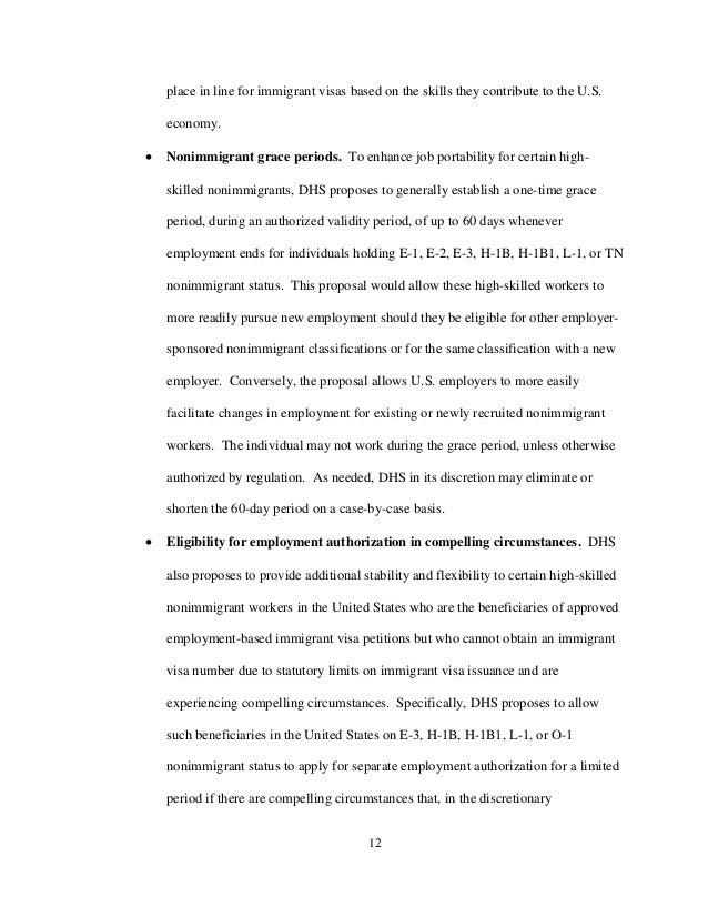 EAD for I140 - Text of the Proposed Rule - Dec 2015