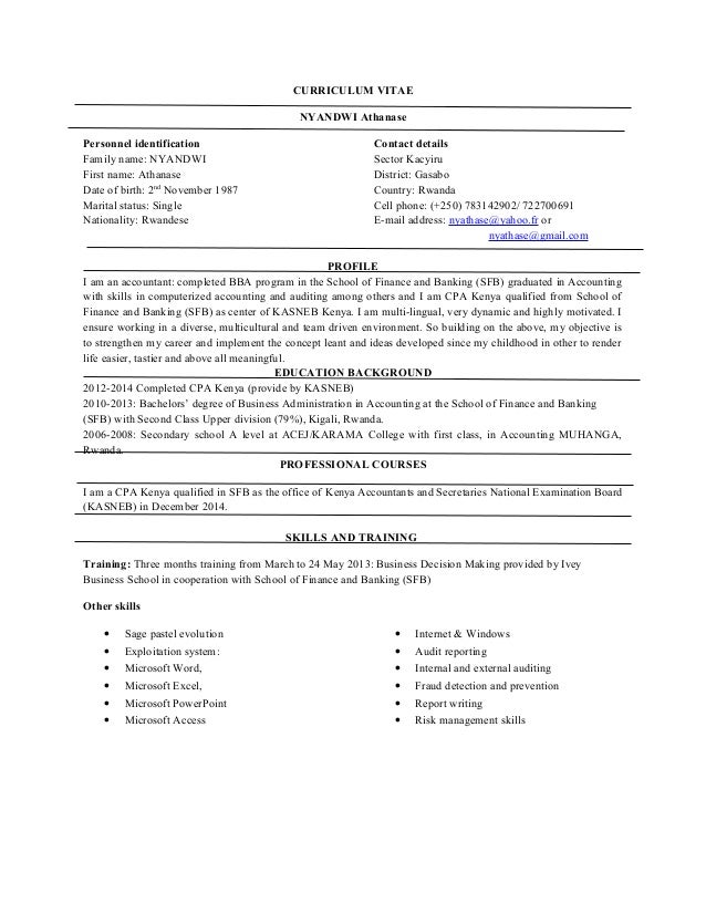 curriculum vitae with professional reference