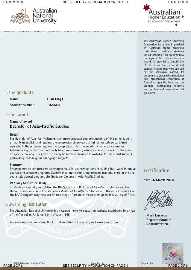 Graduation certificate anu 2 yadclub Image collections