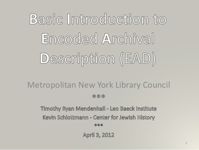 Metropolitan New York Library Council 1