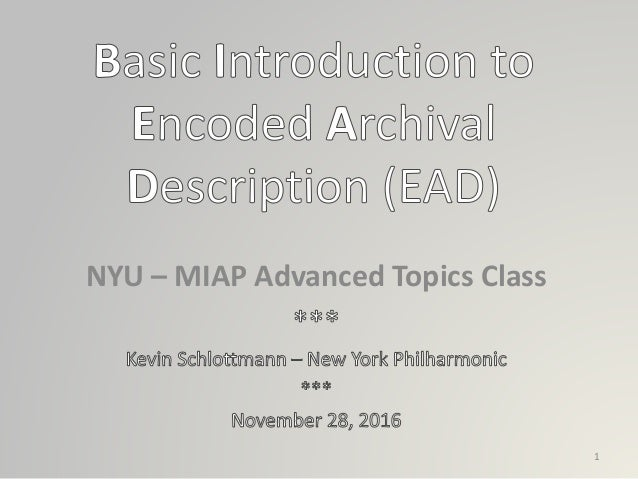 NYU – MIAP Advanced Topics Class 1