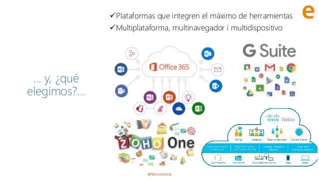 @RamonCosta ... y, ¿qué elegimos?... ✓Plataformas que integren el máximo de herramientas ✓Multiplataforma, multinavegador ...