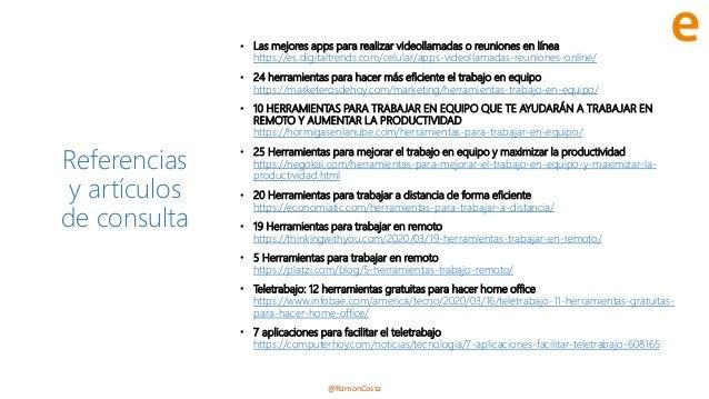 @RamonCosta Referencias y artículos de consulta • Las mejores apps para realizar videollamadas o reuniones en línea https:...