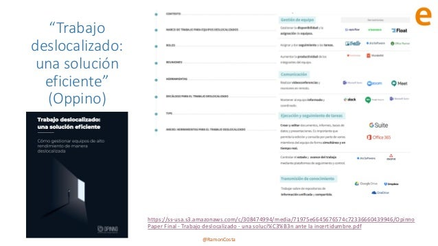"""@RamonCosta """"Trabajo deslocalizado: una solución eficiente"""" (Oppino) https://ss-usa.s3.amazonaws.com/c/308474994/media/719..."""