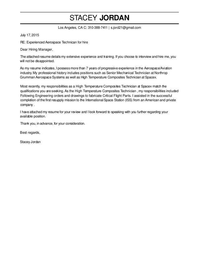 Northrop Grumman Cover Letter