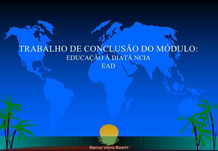 Marcos Vitorio Bizachi TRABALHO DE CONCLUSÃO DO MÓDULO: EDUCAÇÃO À DIATÂ NCIA EAD