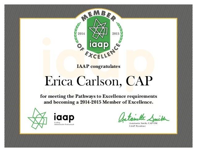 cap erica iaap certificate carlson slideshare upcoming moe