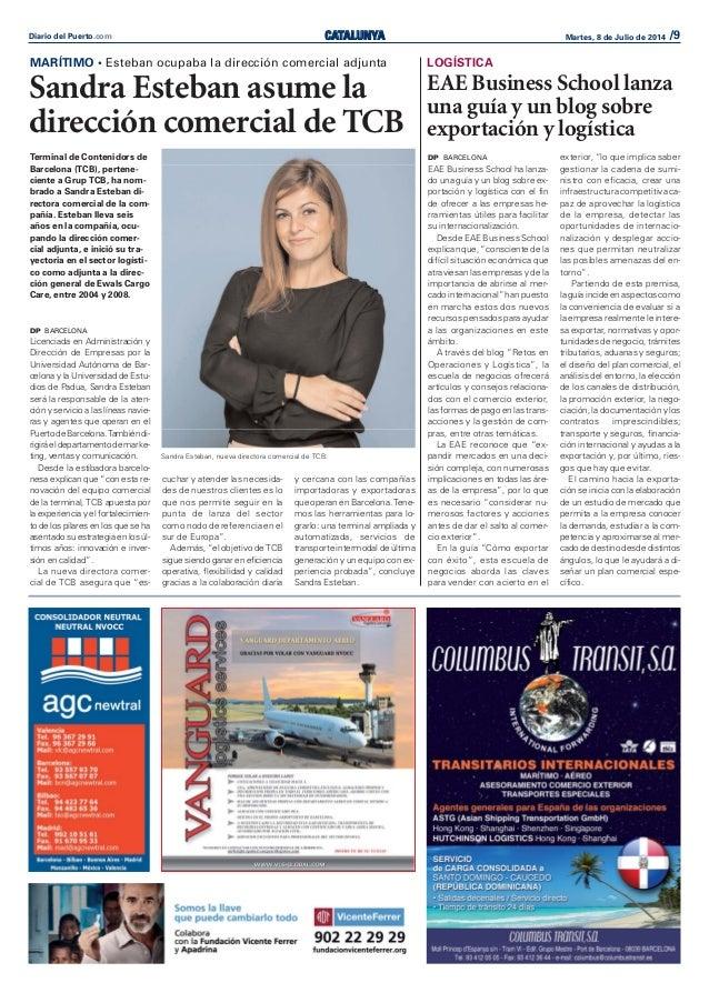 CATALUNYADiario del Puerto.com Martes, 8 de Julio de 2014 /9 Terminal de Contenidors de Barcelona (TCB), pertene- ciente a...