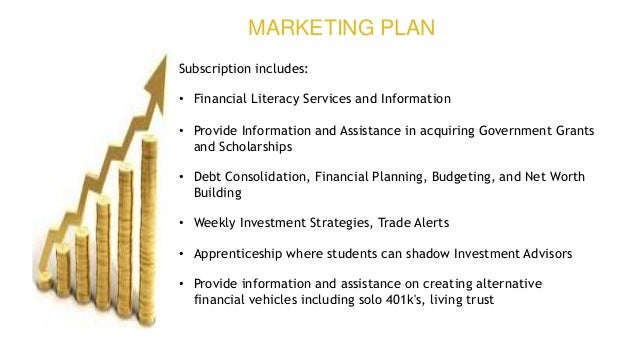 Subscription includes: • Financial Literacy Services and Information • Provide Information and Assistance in acquiring Gov...