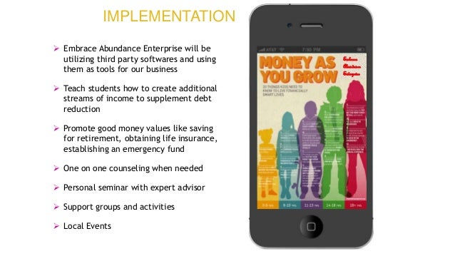 Embrace Abundance Enterprise  Embrace Abundance Enterprise will be utilizing third party softwares and using them as tool...