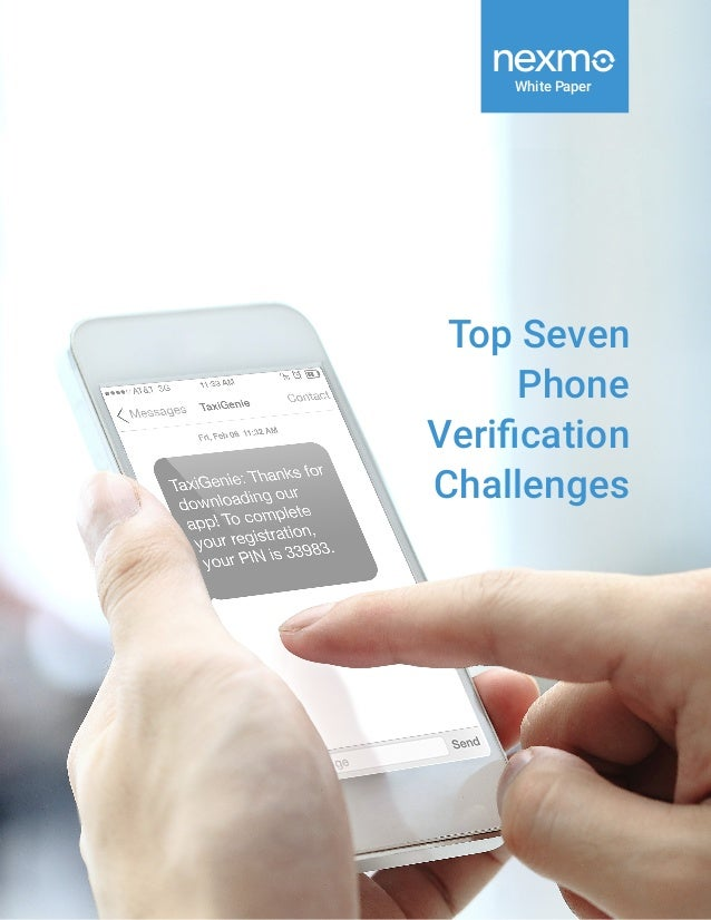 White Paper Top Seven Phone Verification Challenges
