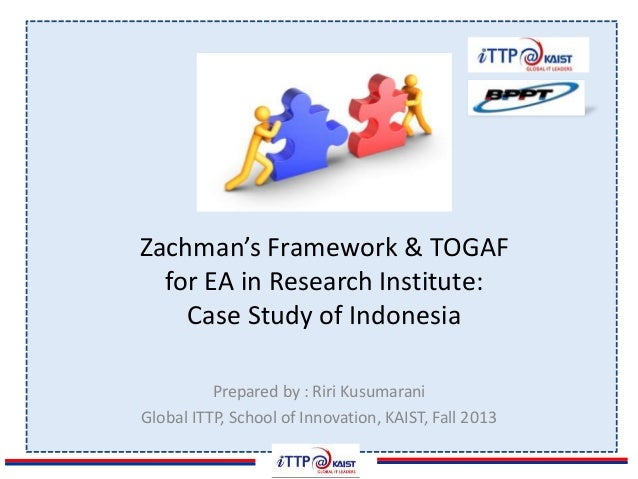 Zachmans Framework TOGAF For EA In Research Institute Case Study - Enterprise architecture case study