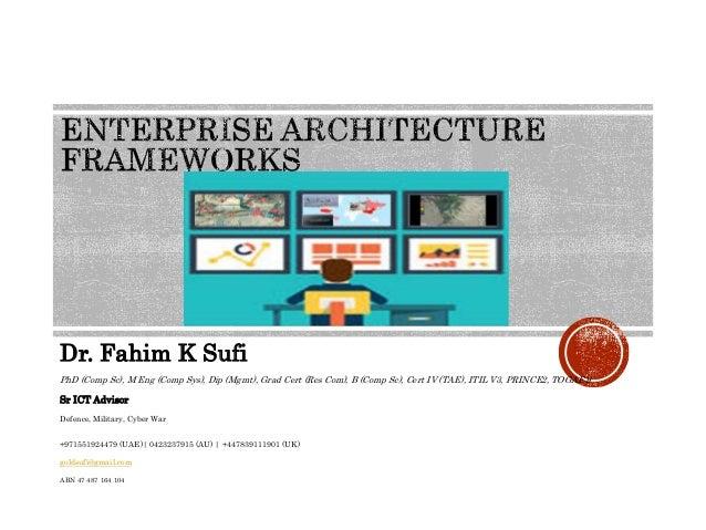 Dr. Fahim K Sufi PhD (Comp Sc), M Eng (Comp Sys), Dip (Mgmt), Grad Cert (Res Com), B (Comp Sc), Cert IV (TAE), ITIL V3, PR...