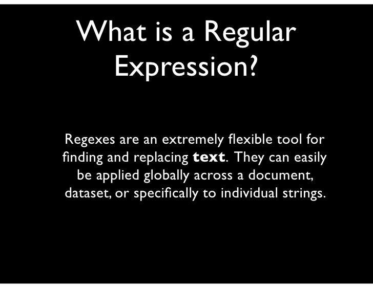 regex-presentation_ed_goodwin Slide 2