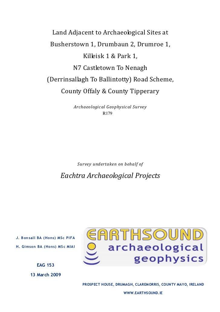 Land Adjacent to Archaeological Sites at                Busherstown 1, Drumbaun 2, Drumroe 1,                             ...