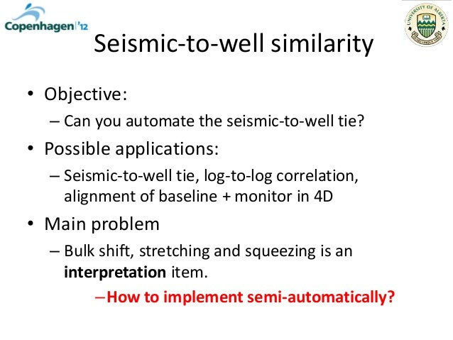 Automated seismic-to-well ties? Slide 3
