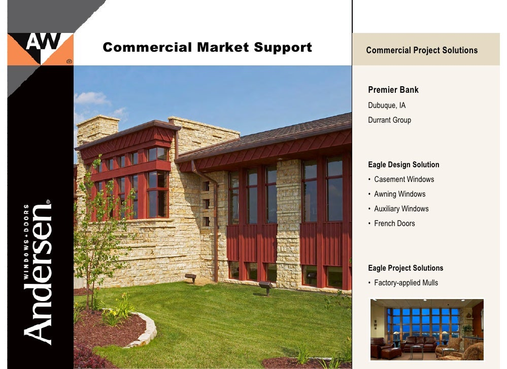 Andersen eagle e series commercial market projects for Eagle windows