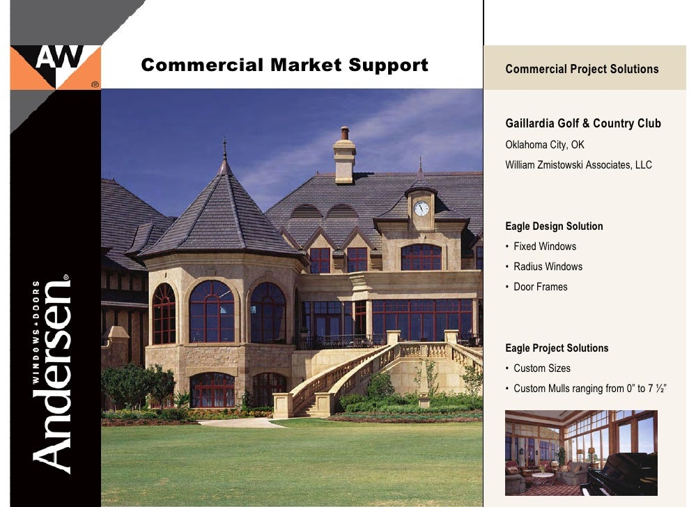 Andersen Eagle E Series Commercial Market Projects