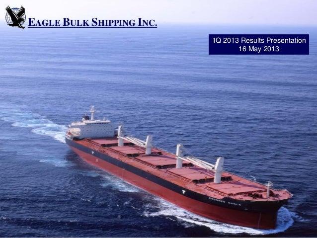 EAGLE BULK SHIPPING INC.1Q 2013 Results Presentation16 May 2013