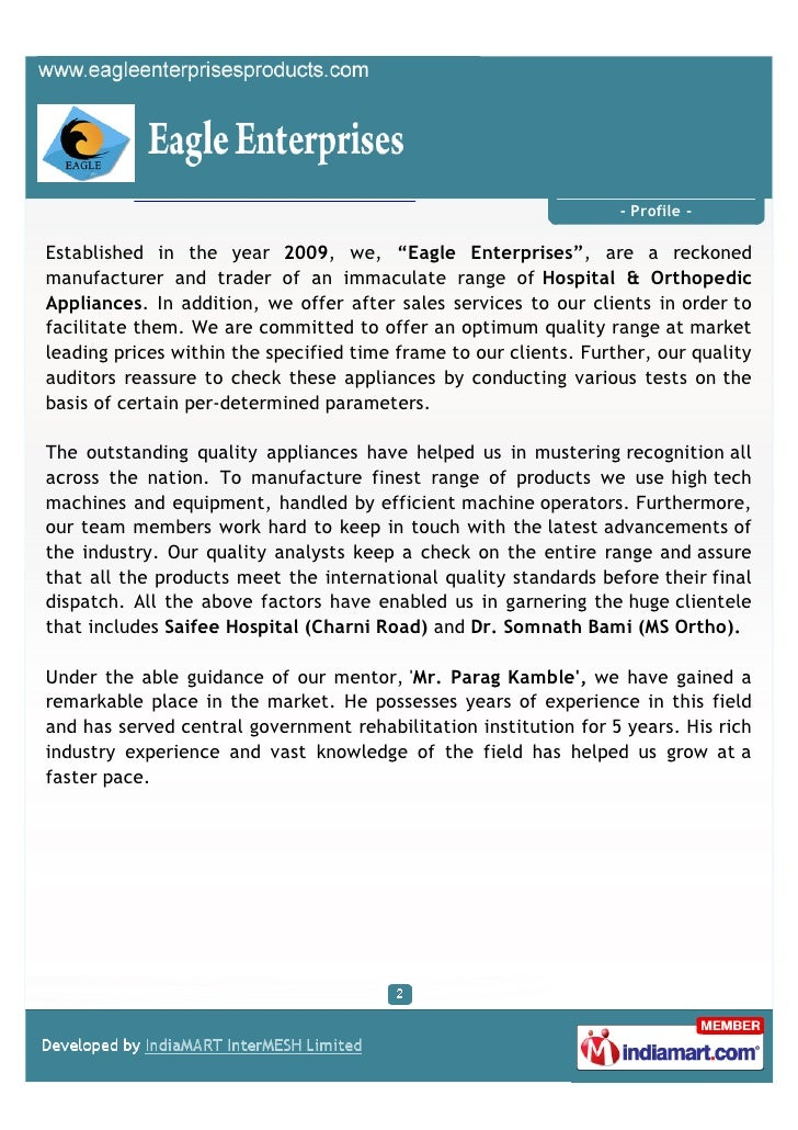 Eagle Enterprises, Mumbai,  Orthopedic Appliances Slide 2