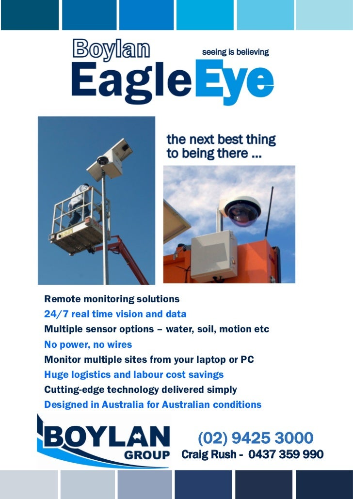 Remote monitoring solutions24/7 real time vision and dataMultiple sensor options – water, soil, motion etcNo power, no wir...