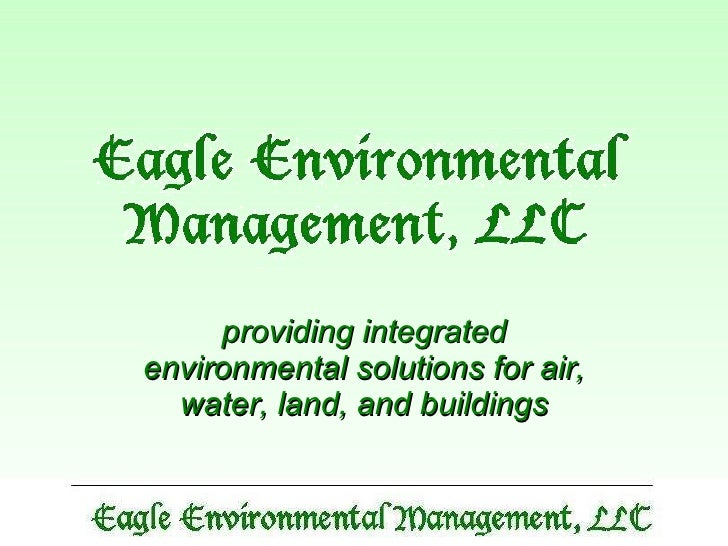 providing integrated environmental solutions for air, water, land, and buildings