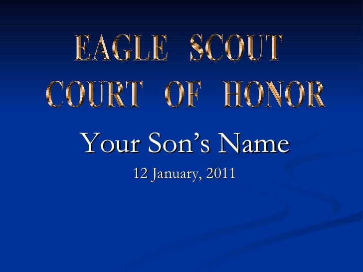 Eagle scout court of honor powerpoint for Eagle scout court of honor program template