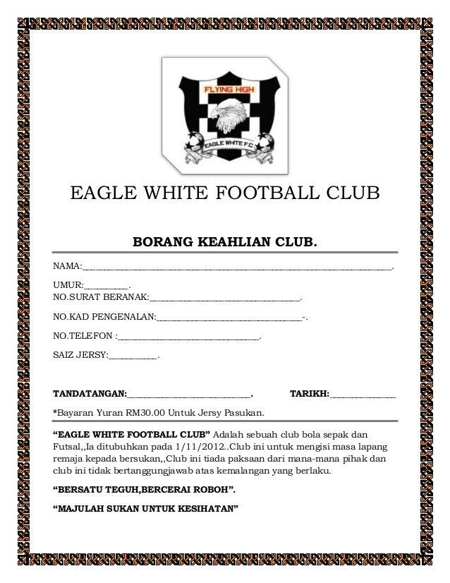 Borang Keahlian Eagle White Football Club